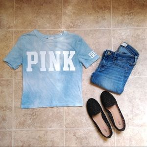 Tops - Pink Tie Dye Crop Top